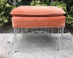 Lucite Vanity Bench Vintage Lucite Vanity Stool Etsy