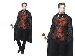phantom of the opera mens halloween fancy dress costume m l ebay