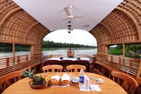 houseboat stay in alleppey with traditional boat house by coconut