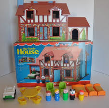 Fisher Price Doll House Furniture Vintage Fisher Price Little People Tudor House 952 Complete With