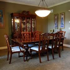 chippendale dining room set universal furniture chippendale style dining table and six chairs ebth
