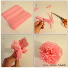 how to use tissue paper in a gift box clunky crafts paper pom pom garland gift