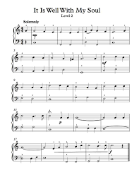 thanksgiving sheet music free piano arrangement sheet music it is well with my soul