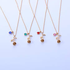 necklace with birthstones beauty and the beast pendant necklace personalized birthstone