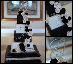 black and white wedding cakes black and white wedding cake ambrosia cake creations