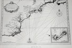 Virginia Coast Map by Pennsylvania Region Maps 1630 U0027s