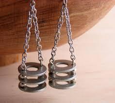 eco friendly earrings dangle drop earrings hardware jewelry industrial eco friendly