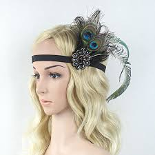1920s hair accessories kmvexo women feather headband hair accessories rhinestone beaded