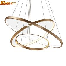 Ring Chandelier Hghomeart Led Ring Chandeliers Luster In The Living Room L