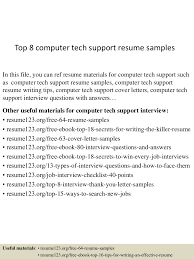 Sample Computer Technician Resume by Cover Letter It Support Technician Sample