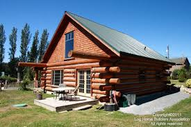 Tips For Building A New Home Log Cabins With Green Metal Roofs