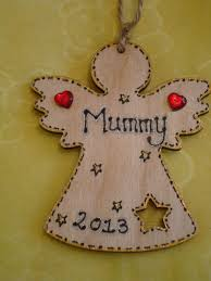 personalised angel fairy christmas tree hanger decoration star cut