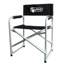 chaise de realisateur administration prsident de pliage en aluminium avec sige noir bras