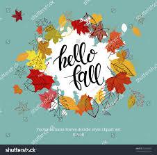 doodle presentations autumn design vector illustration autumn falling stock vector