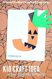 jack o lantern kid craft idea w free printable template free