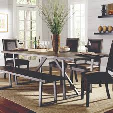 coaster dining room table coaster genoa rustic u base dining table rooms for less dining