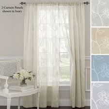 Embroidered Sheer Curtains Frosting Embroidered Sheer Curtain Panels