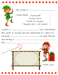 dear santa fill in letter template momdot