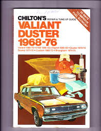 chilton u0027s repair and tune up guide valiant and duster 1968 76