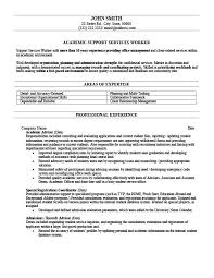 Academic Resume Templates Sample Academic Advisor Cover Letter Counselor Cover Letter No