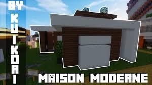Maison Modern Minecraft by Tuto Maison Moderne Minimaliste Minecraft Kuikori Youtube
