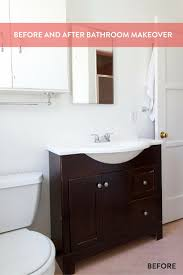 before and after a small but mighty bathroom makeover for the