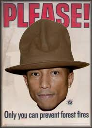 Only You Can Prevent Forest Fires Meme - best 2014 grammys memes pharrell s oversized hat beyonce s wet