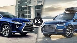 lexus vs audi comparison 2017 lexus rx 450h vs 2016 audi q5 hybrid longo