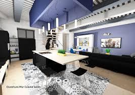 mur en cuisine ouverture mur with cuisine mat avec faux plafond de couleur