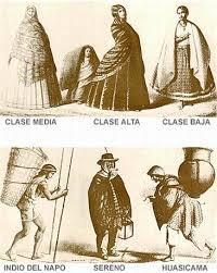vestimenta de sereno de 1810 octubre 1811