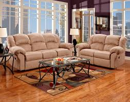 living room reclining microfiber sofa and loveseat set roundhill