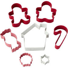 7 piece christmas cookie cutter set wilton