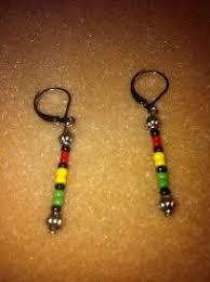 reggae earrings 102 best orecchini rasta images on reggae crochet