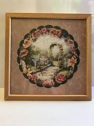 home interiors and gifts framed home interiors gifts donna richardson picket fence pink flowers