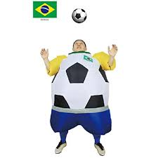 soccer inflatable fat suit football soccer mascot costume party