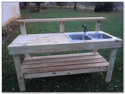 outdoor potting bench with sink sinks and faucets home design