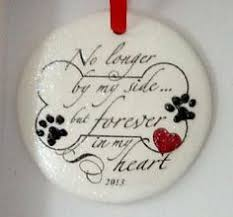 in memory pet remembrance memorial ornament no longer by my side