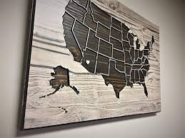 united states map wall wood wall wooden map
