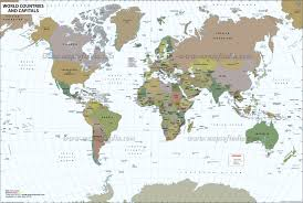 world map image with country names and capitals map world map countries major tourist attractions maps