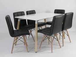 Esszimmer Retro Design Esstisch Schwarz Holz Im Mid Century Modern Design Mid Century