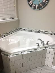 Bathtub Grout Tips On How To Tile A Corner Bathtub Using Wavecrest And Venatino