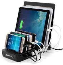 lavolta multiple device charging station 7 port usb iphone ipad