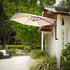 outdoor patio cantilever wall mount umbrella sun canopy grey or