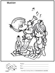 musician precious moments coloring page ginormasource kids