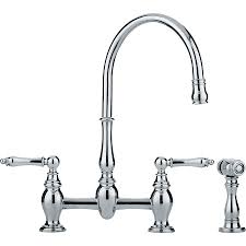 Chrome Kitchen Faucets Shop Franke Farm House Chrome 2 Handle High Arc Kitchen Faucet At