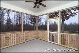 between a screen porch and deck outdoor living design