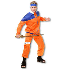 costumes for adults fighter costume orange anime ninjas adults