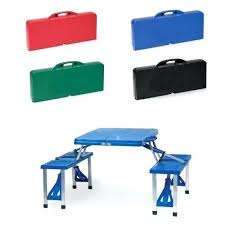Portable Folding Picnic Table Portable Fold Up Table Fold Up Picnic Table Black Portable Folding