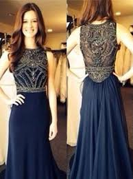 occasion dresses for weddings buy a line prom dress evening dress navy blue crew neck beading