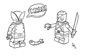 printable lego marvel colouring pages murderthestout
